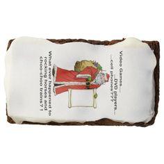 Santa's Gift List Brownies Brownie http://www.zazzle.com/santas_gift_list_brownies_brownie-256846076189722223?rf=238271513374472230  #christmas  #ediblegifts   #christmasideas