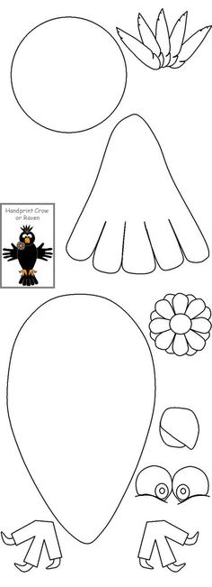 Thanksgiving Scarecrow- trace the child's hand for the wings I stead, or the one printed if too difficult to trace the hands. Easy Crafts For Kids, Art For Kids, Autism Crafts, Moldes Halloween, Toddler Class, Arts And Crafts, Paper Crafts, Felt Patterns, Art Lessons Elementary