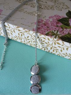 Silver Round Drop Necklace by TheHipsterHut on Etsy