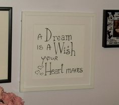 "My DIY Disney Quote Picture @Katlyn Colbert do this for the ""girls"" room!"