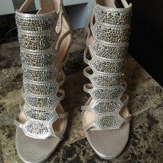 Imagine Vince Camuto Gavin Embellished Cage Shoes