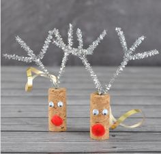 Put your wine corks to use + make these reindeers.