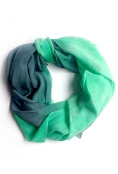 Emerald Silk Chiffon Scarf ღ