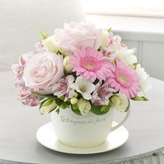 Mothers Day Teacup and Saucer Arrangement | Mothers Day Flowers | Shop by Occasion | eflowers