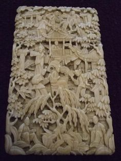 A Deeply Carved Chinese Ivory Card Case