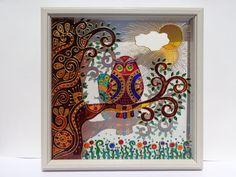 Buho & baby art 10 x 10 vidrio pintura pared