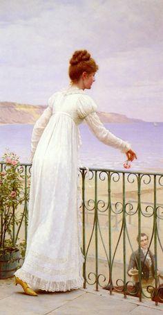 """Edmund Blair Leighton (english painter)  -  """"A favour"""""""