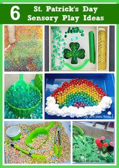 St. Patrick's Day Sensory Play Ideas for Kids
