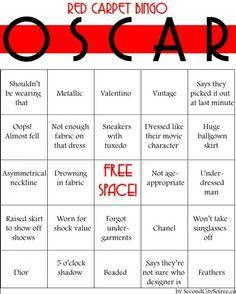 Oscar Party - Red Carpet Bingo