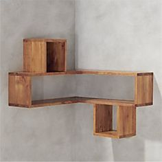 Finding Woodworking Patterns for All Your DIY Projects – The Woodworking Shop Corner Shelf Design, Diy Corner Shelf, Wood Corner Shelves, Wood Storage Shelves, Pallet Shelves Diy, Wall Shelving, Shelving Units, Cb2 Furniture, Corner Furniture