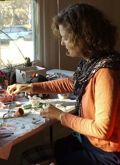 Alex Falkiner, textile artist and tinkerer - Artist in Residence at Strathnairn Arts, August - September 2014.