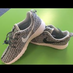 Custom Roshe Run Yeezy 350 Oreo Spin off of the Yeezy shoe.  My number one seller and all sizes are in stock, get your Christmas gift early if your size sells customization takes approximately 1 to 2 weeks. Nike Shoes Sneakers