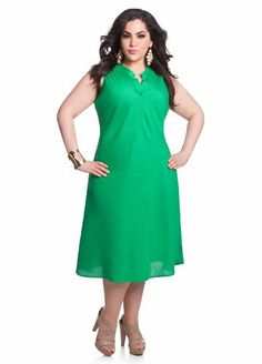 Ashley Stewart Women's #Plus #Size Linen Placket Bias Dress - Buy New: $29.63