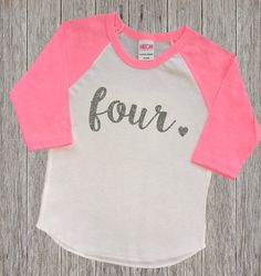 Four Year Old Birthday Shirt  Fourth by RusticPeachDesigns on Etsy