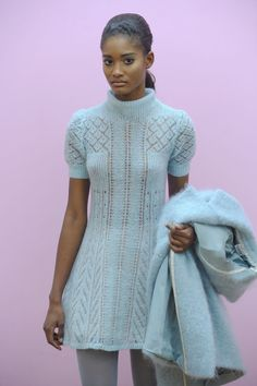 Knitwear Fashion, Knit Fashion, Fashion Corner, Alberta Ferretti, New York Fashion, Pulls, Couture Fashion, Knit Dress, Lana