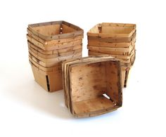 New to LaurasLastDitch on Etsy: Wood Strawberry Baskets Quart Berry Containers Boxes Crates (used as-is) (14.99 USD)