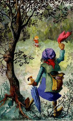 Paulus de Boskabouter illustratie uit Margriet by Jean Dulieu - Comic Strip
