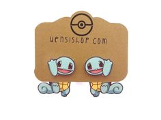 Hey, I found this really awesome Etsy listing at https://www.etsy.com/listing/194733763/squirtle-pokemon-inspired-cling-earrings
