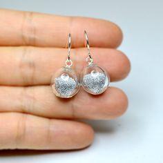 glitter earrings.