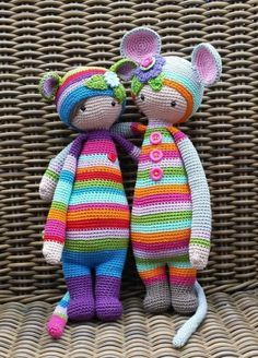 RADA the rat and Mouse mod made by Patricia N. / crochet pattern by lalylala by Kharis