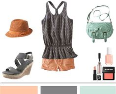 peach, grey and mint | Found on lifes-a-journal.com