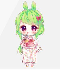 Trefle [Detailed chibi commission] by on DeviantArt Kawaii Neko Girl, Bubble Tea, Chibi, Best Gifts, Deviantart, Detail, Creative, Artist, Cute