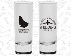 Barbados Shooters, Barbados Wedding, Shooter Glass, Destination Shooters, Tall Shot Glass, Bridgetown Shooters (160)