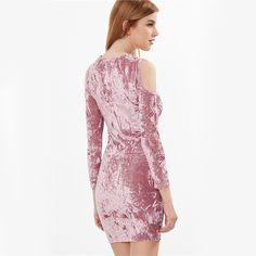 Vestido Rosa cor Lavada Manchas Desbotada Ombro Caído Vazado