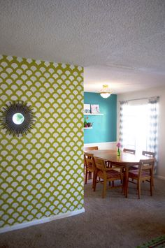 ... Stencil on Pinterest | Stenciled accent walls, Stenciling and Scallops