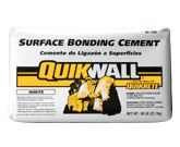 """QUIKRETE® - QUIKWALL® Surface Bonding Cement. (No. 1230-1231) is an alkali resistant, fiberglass reinforced, portland cement based surface bonding cement used for construction of dry-stack (without mortar) cement block walls (like outdoor kitchens). Add color with QUIKRETE® Stucco & Mortar Color. A 50-lb bag will cover apprx 50 sq ft @ 1/8"""" thick."""