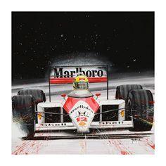 Senna – Tom Havalasek Retro Motorsport Art