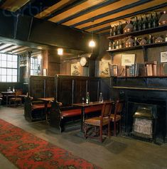 Traditional Old English Pub Interior … Rustic Restaurant, Restaurant Design, Restaurant Bar, Pub Design, Pub Sheds, Home Pub, British Pub, Pub Bar, Old English