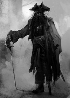Old and ired pirate by Brenoch Adams / USA http://www.brenoch.com/