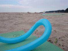 Yoga on the beach! Tatado beach in Shimoda-City,Shizuoka Pref.