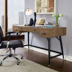 Walnut Finish Contemporary Surplus Desk - Overstock™ Shopping - Great Deals on Modway Desks