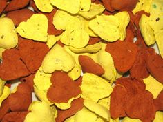 Pale Yellow and Terracotta Heart Shaped Seed Bombs for Wedding Favors by Davita, $20.00 www.davita.etsy.com