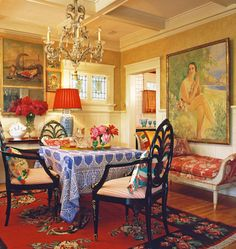 Anglo-Indian eclecticism in a cottage designed by Lynn Von Kersting.