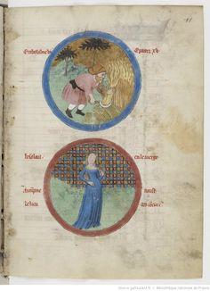 August - Psautier latin-français, 14th century - Bibliothèque nationale de France, Département des manuscrits, NAF 4600