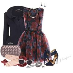 """Floral Dress"" by shadedlady on Polyvore"