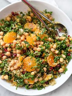 Quinoa and Kale Protein Salad is a totally fresh and easy way to eat healthy | foodiecrush.com