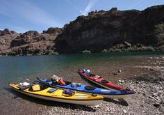 Kayak Black Canyon - 3 Day Expedition. You get picked up off the Las Vegas Strip and everything else is taken care of!  Your food, gear, just show up dressed! Camp under the stars next to the Colorado River, straight from the Hoover Dam. #desertadventures