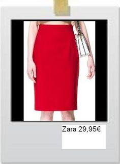 Red pencil skirt by Zara
