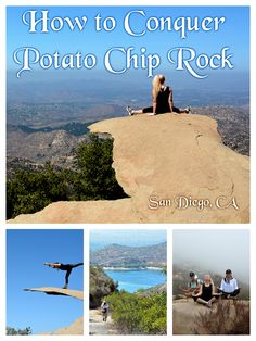 USA. Not for the faint of heart, San Diego's Potato Chip Rock – a sliver of stone hovering 2,800 feet over the ridge near the summit of Mt. Woodson,