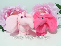 Washcloth Elephant  Baby Shower Favors by CheekyChiqueBoutique, $5.95