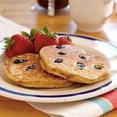 Blueberry Pancakes | CookingLight.com #myplate #fruit #wholegrain