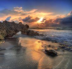 Sunrise at Jupiter Beach