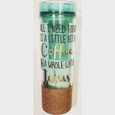 Skinny mint tumbler *glitter*custom*mint*tumbler*coffee*reusable*water* hot or cold Mason Jar Tumbler, Mason Jars, Glitter Glasses, Acrylic Tumblers, Glitter Vinyl, Vinyl Projects, Vinyl Designs, Tea Pots, My Etsy Shop