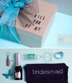Cute idea for a bridesmaid