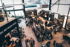 Proof that motorcycling, and British biking, remains popular, as the Triumph North London launch event attracts crowds to the new dealership North London, East London, Custom Tanks, London Brands, Surrey, Crowd, Attraction, British, Product Launch