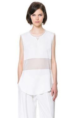 Image 1 of SHEER STUDIO TOP from Zara